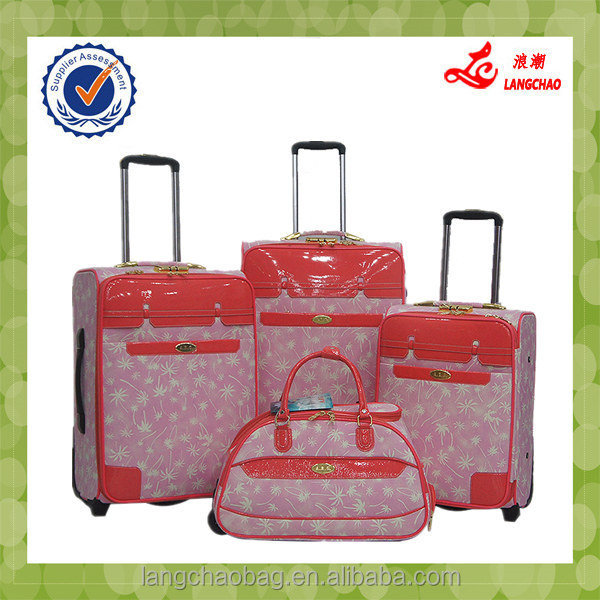 Classic aluminum luggage case vintage suitcase of PU leather