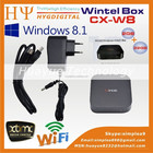 Preço de fábrica Wintel W8 Mini Box PC com windows8 8.1 OS Intel Quad Core 1.33 GHz CPU 2G RAM 32G De Armazenamento com Bluetooth