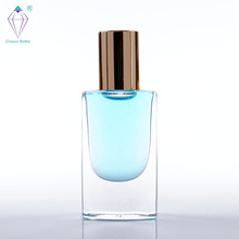 10ml glass body refillable deodorant perfume roll on bottle for cosmetic package