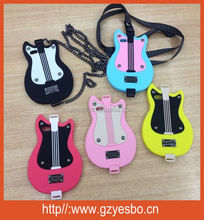 2014 new products 3d silicone guitar handbag mobile phone case for iphone 5 5s