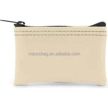 Expanded Vinyl coin bag with Zipper Closure