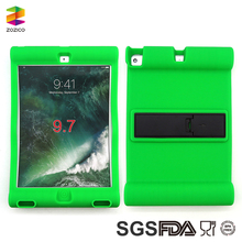 For Ipad 9.7 Inch 2017 Hot Selling Green Color Kid Proof Silicone Tablet PC Case