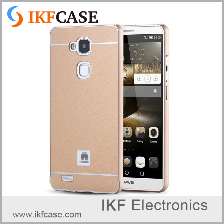 Mobile accessories 2 in1 Aluminum Metal bumper + Hard Plastic Acrylic back cover case for Huawei Ascend Mate 7