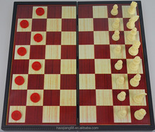 2 in 1 Travel magnetic board game- chess, checkers