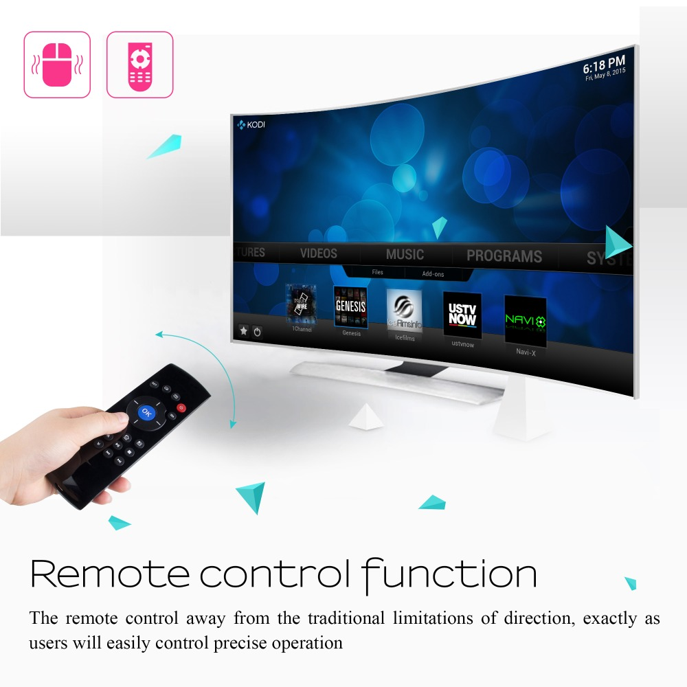 In stock, 2.4G Fly Air Mouse+Remote Control+ Mini Keyboard for android 6.0 tv box X96 C2 Wireless remote