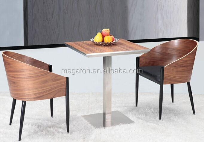 New arrival high end coffee shop tables and tub chairs(FOH-BCA22)