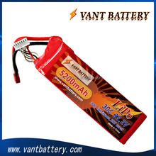 lipo battery 5200mah for 450/500/600 rc helicopter lipo battery 22.2v 30C 6s with T connector