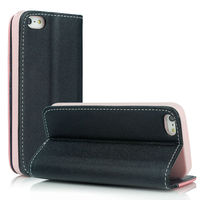 Slim Leather Flip Wallet Card Pouch Stand Back Case Cover Mobile Phone Case for iPhone5 5S