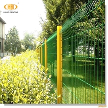 PVC coated metal small garden fencing /short garden fence