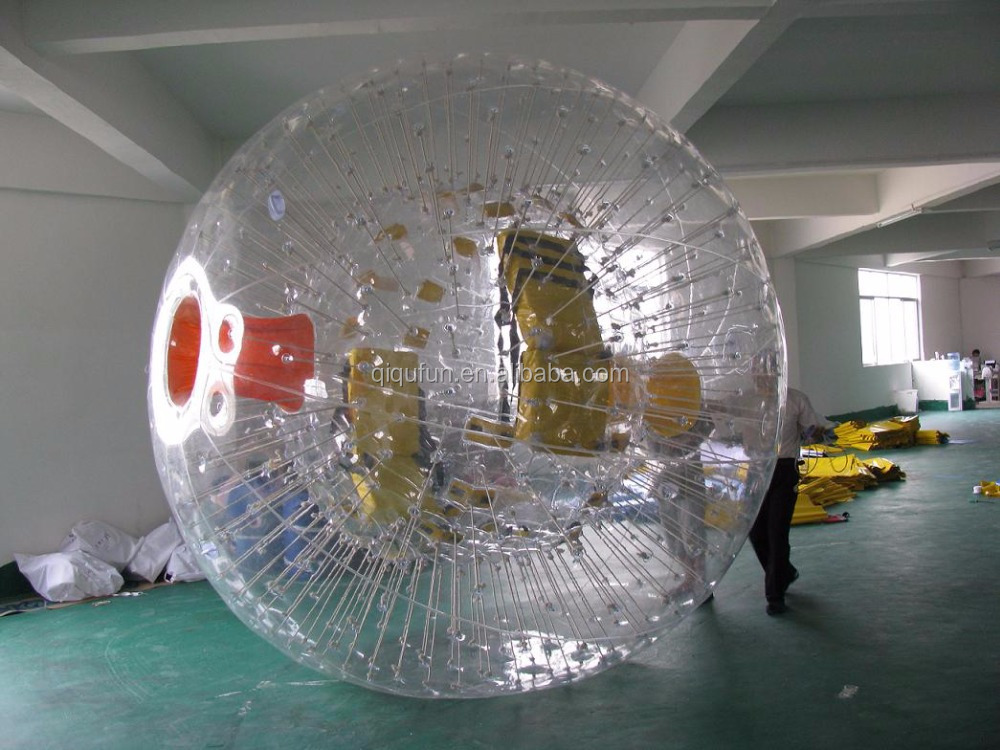 Outdoor activities with pvc bumper inflatable human zorb ball
