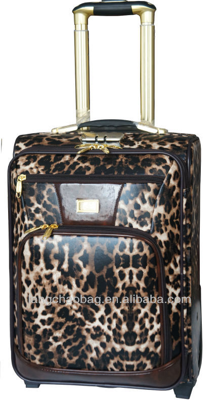 fashion leopard material lugagge sets