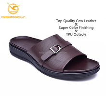 new arrival fashion mens summer shoes , latest design chinese arabic style customize mens leather wholesale slippers