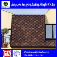 hexagonal fiberglass asphalt roofing shingles prices made in China