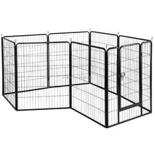 8 Panel Foldable Metal Puppy Exercise Playpen Pet Fence Rabbit Run Kennel Pet Supplies
