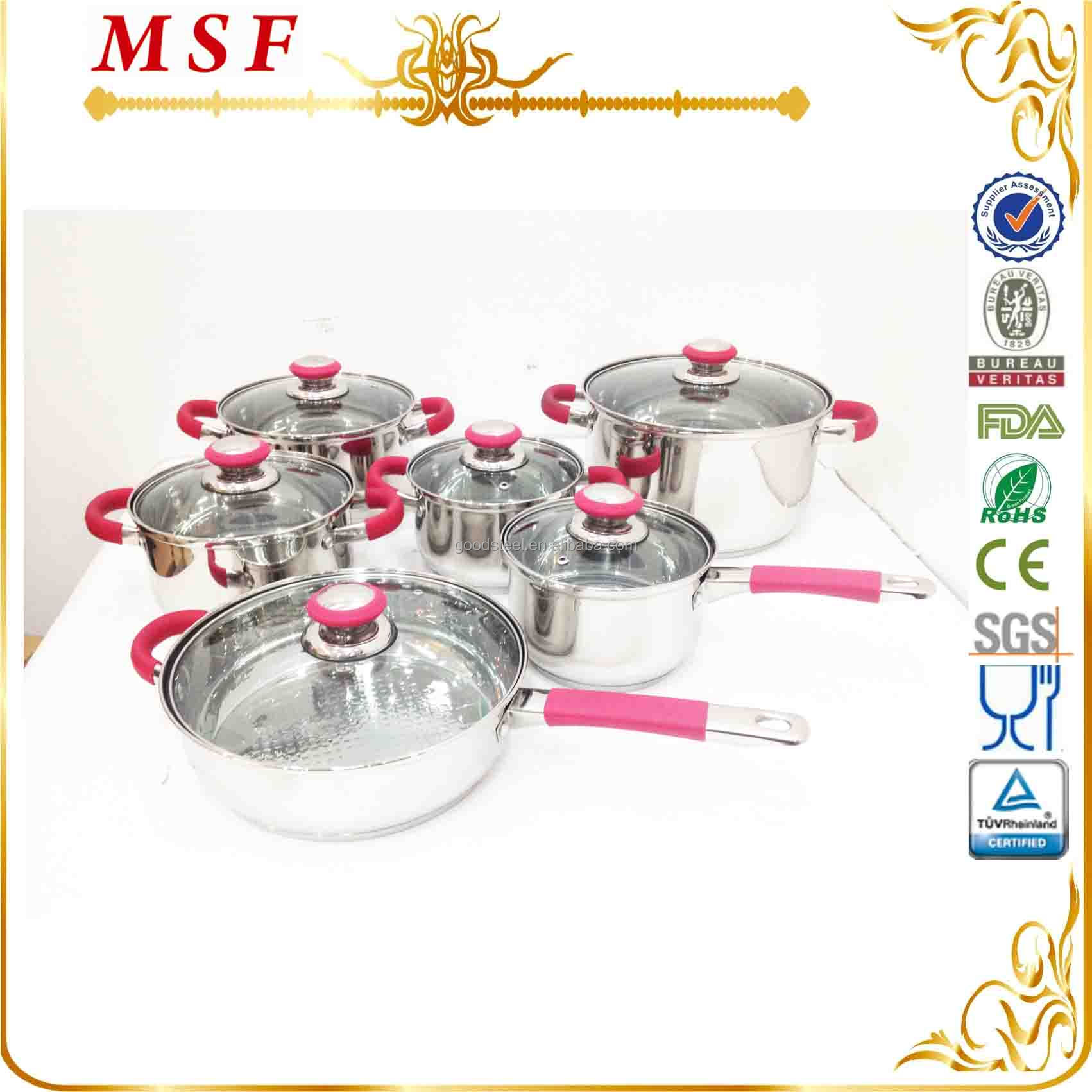 12pcs color changing handles magic cookware
