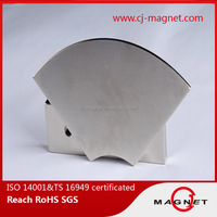 Strong Curved permanent arc neodymium magnet motor from CJ MAGNET factory