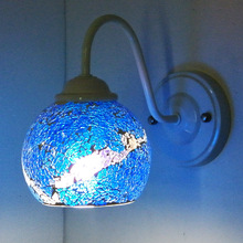 Artistic colored glass lantern chimney decoration light Cafe wall lamp covers