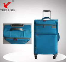 Newly designed nylon travel luggage case, wheeled market trolley bag, lightweight travel bags for men women and children