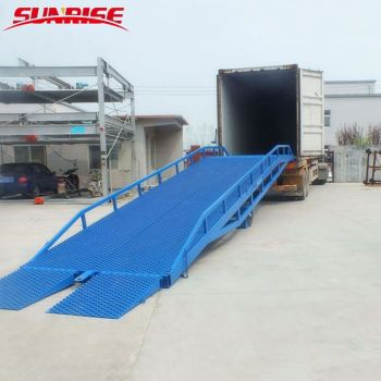 6-15ton capacity hydraulic warehouse dock leveler electric auto dock loading ramp