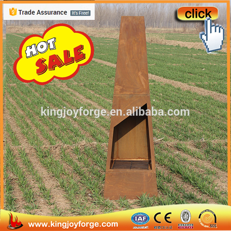 Ultra-modern Shape Corten Steel Garden Chimeneas For Sale