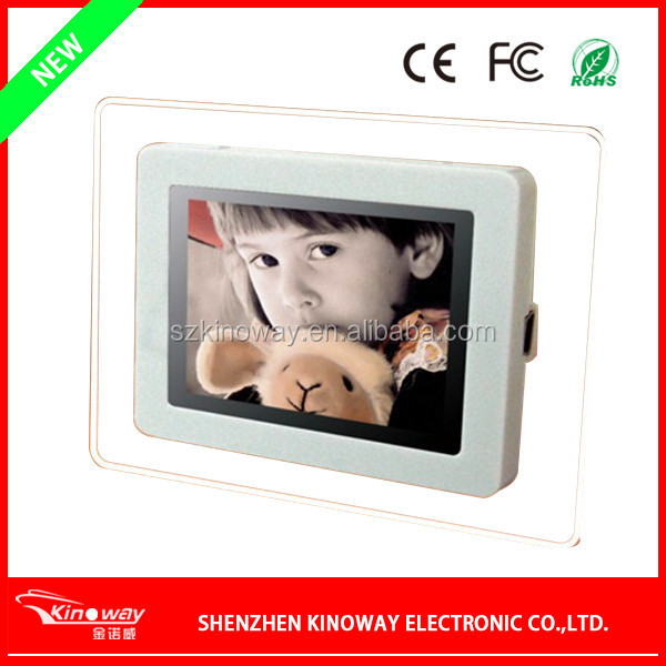 2.4 inch mini LCD digital frame USB 2.0 digital photo frame with 4GB memory SD card photo frame