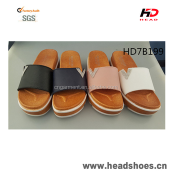 New arrival thick sole gorgeous fashionable PCU PVC slippers
