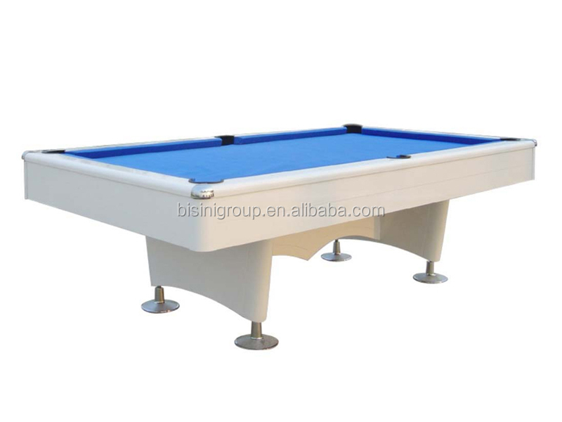 Customized 9ft Outdoor Pool Table Water Proof Metal Legs Pool Table