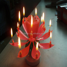 led musical fireworks birthday candle with name for party