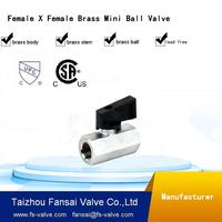 "USA eco-friendly no lead brass forged chromed 1/4"" female thread mini cock ball valve"