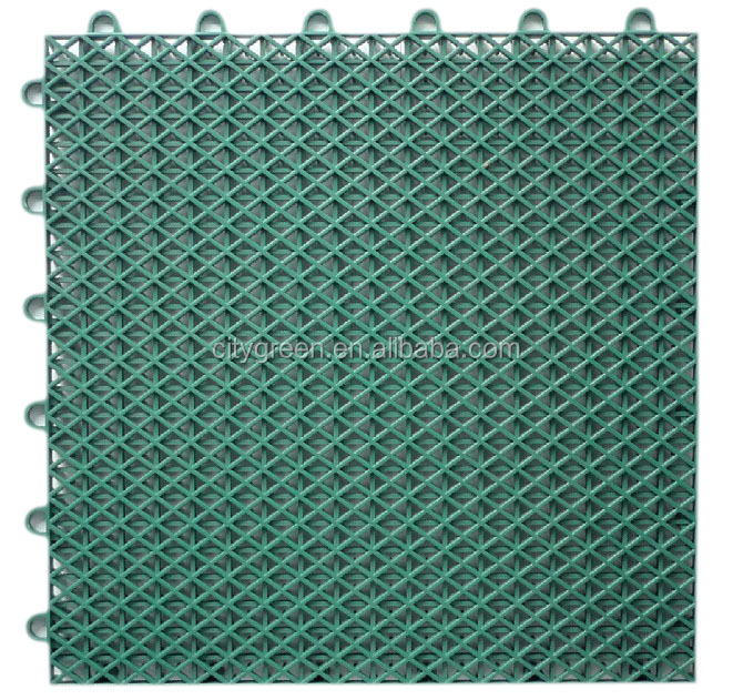 Modified PP Recycled Modular Outdoor Flooring , Commercial Interlocking Gym Floor Mats
