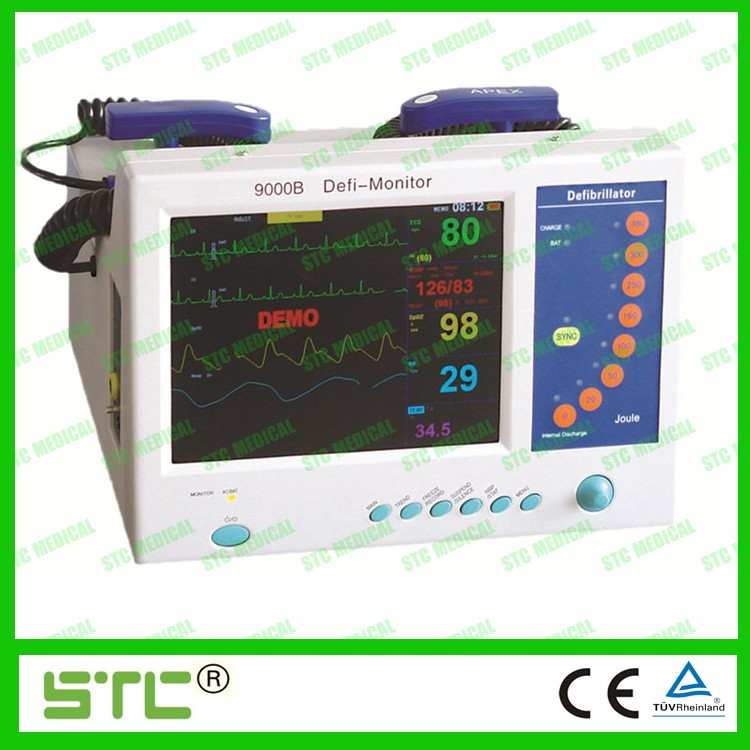 Monophasic defibrillator monitor in health & medical