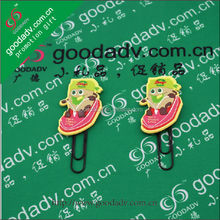 2014 China hot new product for business idea cartoon design innoeative safe metal book binder clips