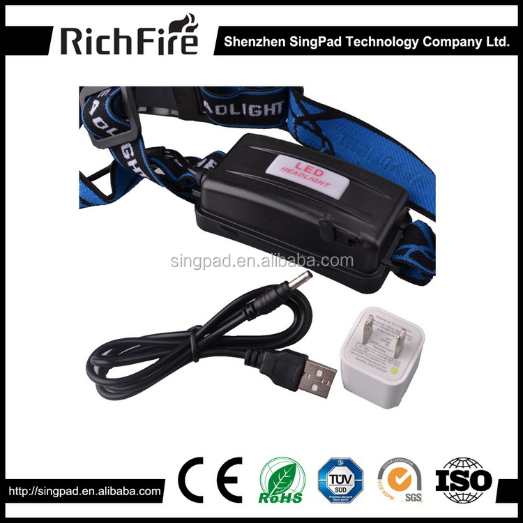 2016 3-Mode Telescopic lens adjust long range Cool White light <strong>led</strong> head torch