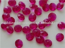 10mm 4CT HOT PINK Fuchsia Acrylic Diamonds Confetti Wedding Decorations