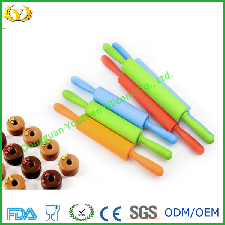 FDA LFGB cheap food grade silicone pastry dough rolling pins