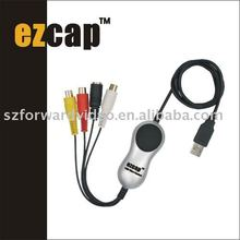 EzCAP Video Adapter With Audio capture from VHS V8 Hi8