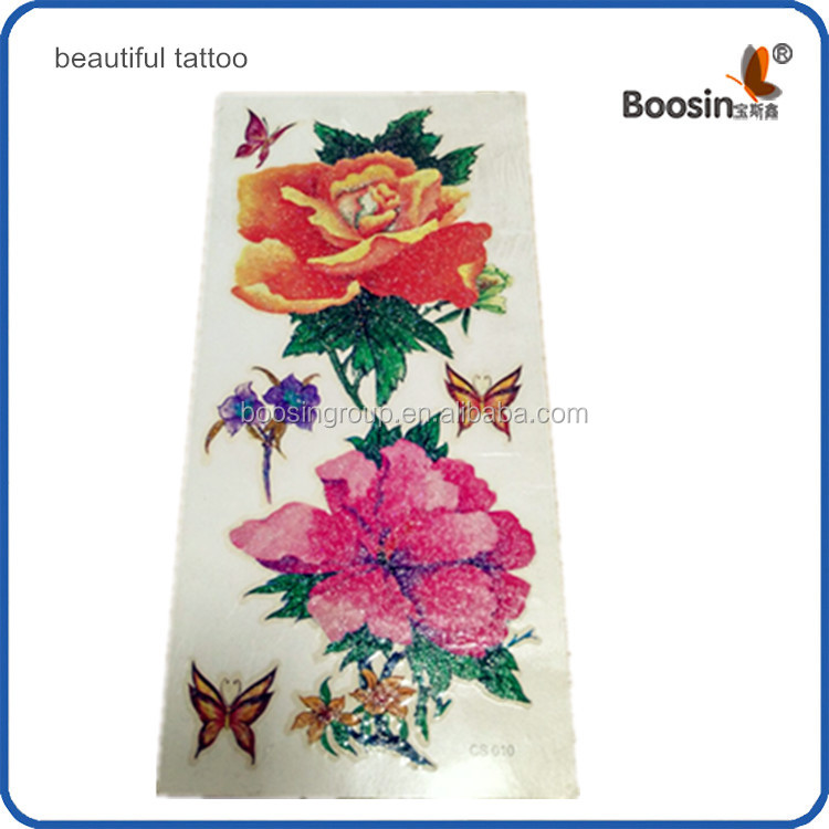 beautiful flowers temporary tattoo for body art