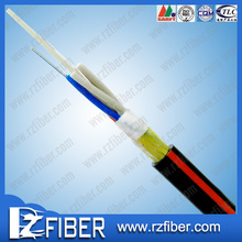 High efficiency OD 9.0 dielectric rubber-insulated fiber cable