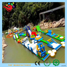 2018 Newest Guangzhou Inflatable Adults Sea World Water Pool Floating Obstacle Course