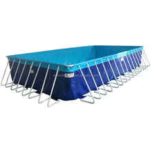 2017 Wholesale Prices above ground Steel Container Metal Frame Swimming Pools for sale