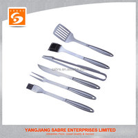 2016 New design color box 6pcs stainless steel BBQ tools set