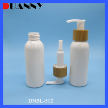 10ml-500ml White Plastic Cosmetic PET Lotion Pump Bottle For Cosmetics