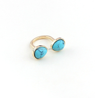 2015 fashion Nature stone turquoise ring