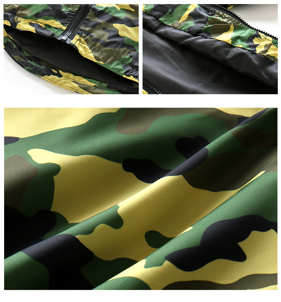 2018 New Children Camo Hooded Jackets For Boy Girls Camouflage Zipper Windbreaker Kids Long Sleeve Casual Outdoor Clothes CMB409 (5)