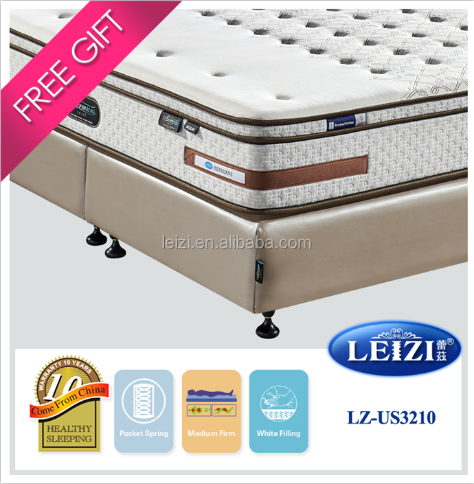 Royal Bedroom furniture 100% latex queen size mattress
