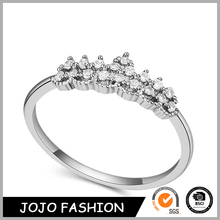Fashion Latest finger ring for women diamond wedding bride ring 18K gold plated wholesale crown white gold ring