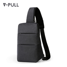 OEM ODM waterproof polyester custom logo guangzhou cheap laptop sling bag mens shoulder sling bag