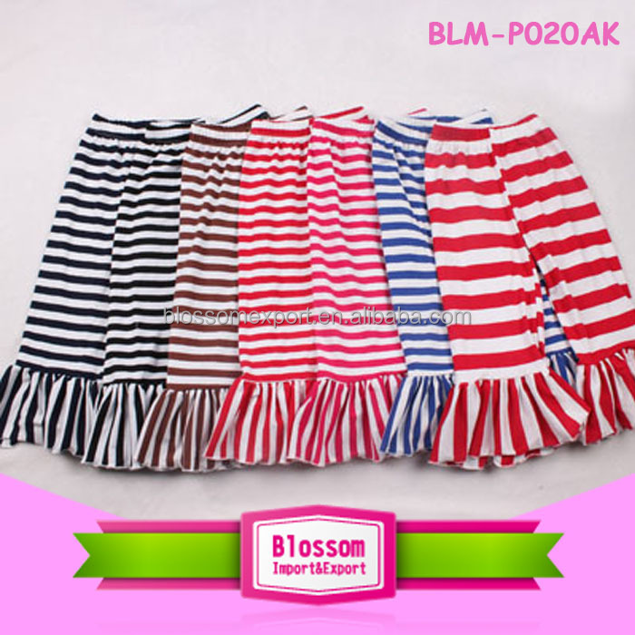Hot sales lovely stripe wholesale baby high waist baby pants
