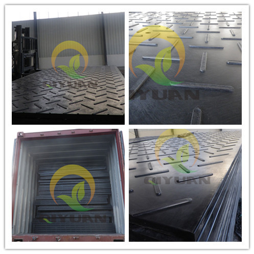 Track mats with 100 tons uhmwpe construction road mats bog mat