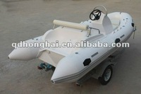sailing yacht outboard engine semi-rigid rib-420 inflatable boat